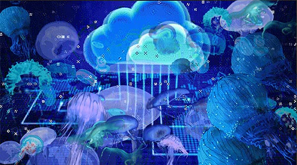 Colonise the Cloud: SWARM, still from animated GIF